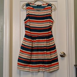 Topshop striped cotton dress sz 6